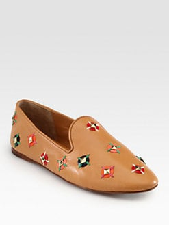 Tory Burch - Jasmine Studded Leather Loafers