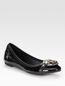 Tory Burch - Aaden Patent Leather Logo Ballet Flats