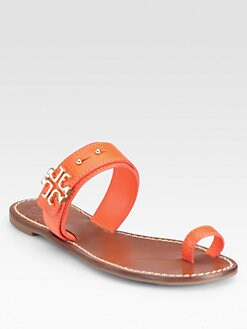 Tory Burch - Elina Textured Leather Sandals