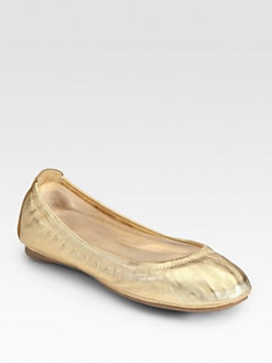 Tory Burch - Eddie Metallic Leather Ballet Flats