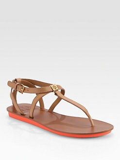 Tory Burch - Tricia Leather Thong Sandals