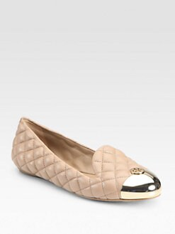 Tory Burch - Kaitlin Quilted Leather Smoking Slippers
