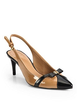 Tory Burch - Samara Patent Leather Slingback Pumps