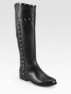 Tory Burch - Mae Leather Knee-High Riding Boots