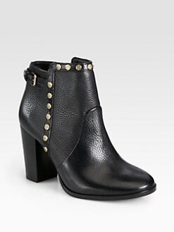 Tory Burch - Mae Leather Studded Ankle Boots