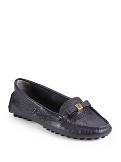 Tory Burch - Ludlow Pebbled Leather Drivers