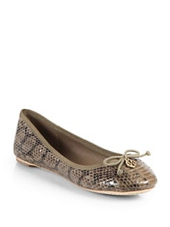 Tory Burch - Chelsea Snakeskin Ballet Flats