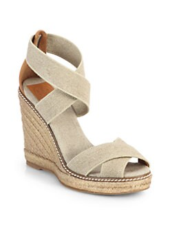 Tory Burch - Adonis Crisscross Espadrille Wedge Sandals