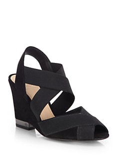 Tory Burch - Debbie Crisscross Suede Wedge Sandals