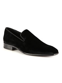Saks Fifth Avenue Men's Collection - Velvet Loafers