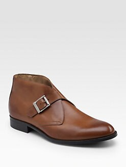 Saks Fifth Avenue Men's Collection - Monk-Strap Ankle Boots