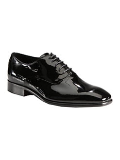 Saks Fifth Avenue Men's Collection - Patent Leather Lace-Ups