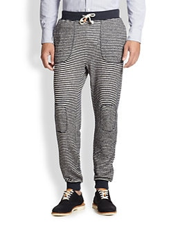 Band of Outsiders - Striped Stretch Wool Sweatpants