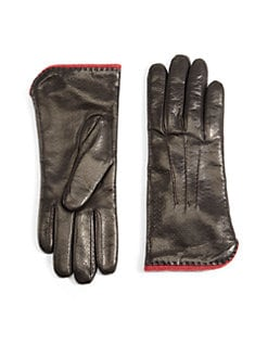 Portolano - Perforated Leather Gloves