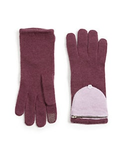 Portolano - Knit Gloves with Pouch Detail