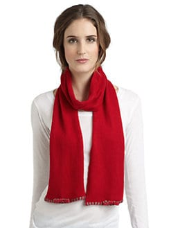Portolano - Minerva Stripe Trim Scarf