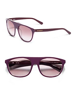 Givenchy - Modified Wayfarer Sunglasses/Purple