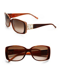 Judith Leiber - Mosaic Cubism Sunglasses