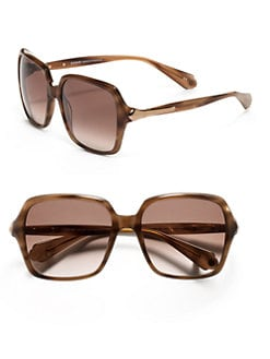 Balmain - Square Baroque Acetate Sunglasses/Brown
