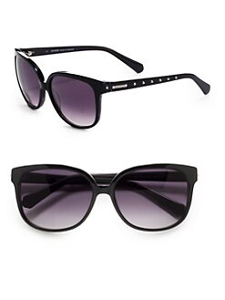 Balmain - Round Studded Acetate Sunglasses/Black
