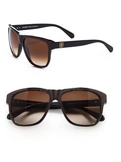 Balmain - Square Glitter Acetate Sunglasses/Brown