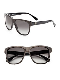 Balmain - Square Glitter Acetate Sunglasses/Gold Glitter