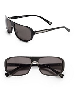 Balmain - Geometric Metal & Acetate Sunglasses/Grey