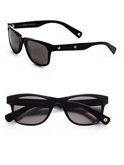 Balmain - Retro Rectangular Acetate Sunglasses/Black