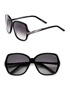 Nina Ricci - Oversized Round Embellished Acetate Sunglasses/Navy