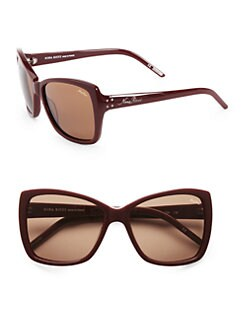 Nina Ricci - Oversized Rectangular Acetate Sunglasses/Red