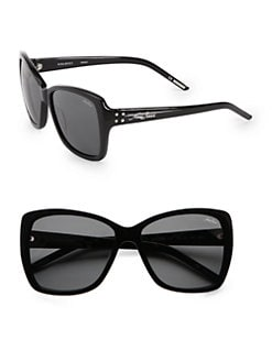 Nina Ricci - Oversized Rectangular Acetate Sunglasses/Black