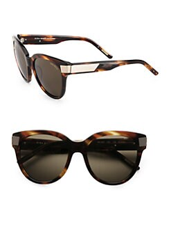Nina Ricci - Cat-Eye's Acetate Ribbed Sunglasses/Tortoise