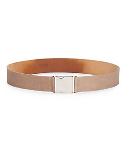 MaxMara - Sleek Leather Belt/Tan