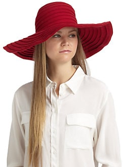 MaxMara - Vettura Wool Felt Oversized Hat/Red