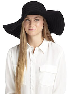 MaxMara - Vettura Wool Felt Oversized Hat/Black