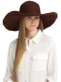 MaxMara - Vettura Wool Felt Oversized Hat/Brown