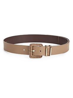 MaxMara - Pebbled Leather Belt