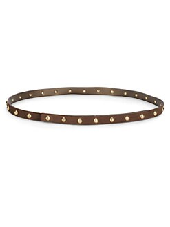 MaxMara - Studded Metallic Leather Belt