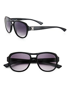 Sonia Rykiel - Aviator Acetate Sunglasses/Black