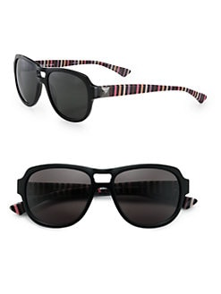 Sonia Rykiel - Aviator Striped Acetate Sunglasses