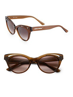 Sonia Rykiel - Cat's-Eye Cutout Acetate Sunglasses/Brown