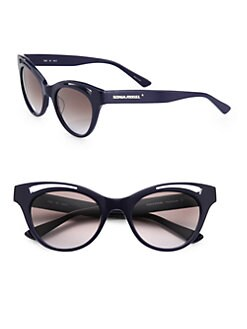 Sonia Rykiel - Cat's-Eye Cutout Acetate Sunglasses/Blue