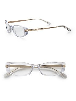 Judith Leiber - Rectangular Crystal Shimmer Readers