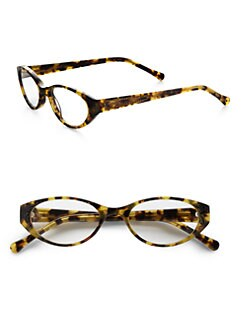 Judith Leiber - Oval Crystal Tortoise Readers