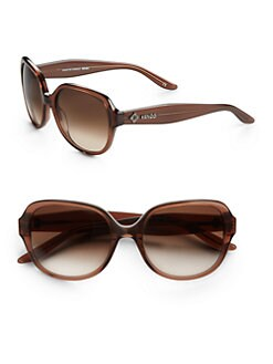 KENZO - Rounded Translucent Acetate Sunglasses/Brown