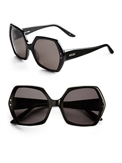 KENZO - Hexagon Acetate Sunglasses/Black