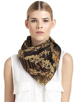 Versace - Silk Chiffon Animal Scarf