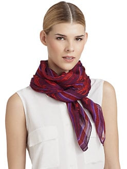 Versace - Baroque Scarf/Red & Purple