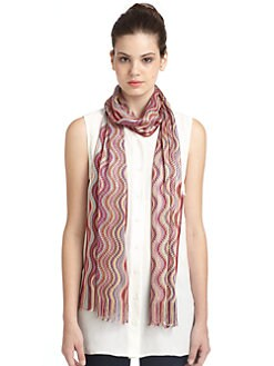 Missoni - Round Wave Knit Scarf/Pink