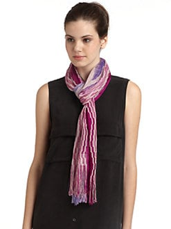 Missoni - Classic Wave Fringe Scarf/Purple